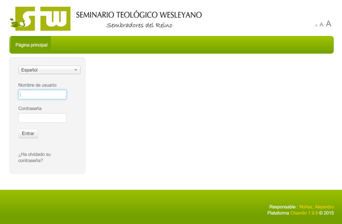 E-LEARNING – Seminario Teológico Wesleyano – Campus Virtual