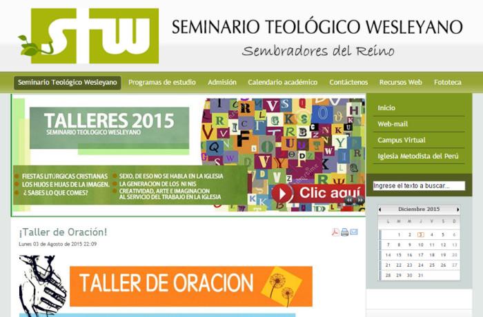 JOOMLA – Seminario Teológico Wesleyano – http://www.stw.org.pe